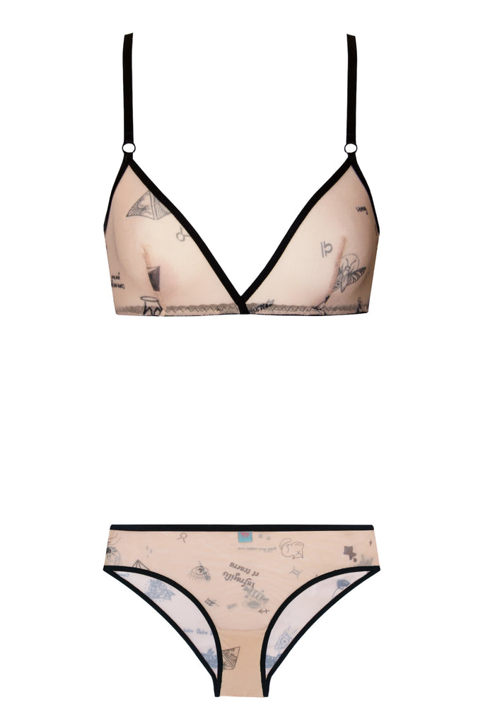 Tattoo set - Lingerie set by WOW! Panties. Shop on yesUndress