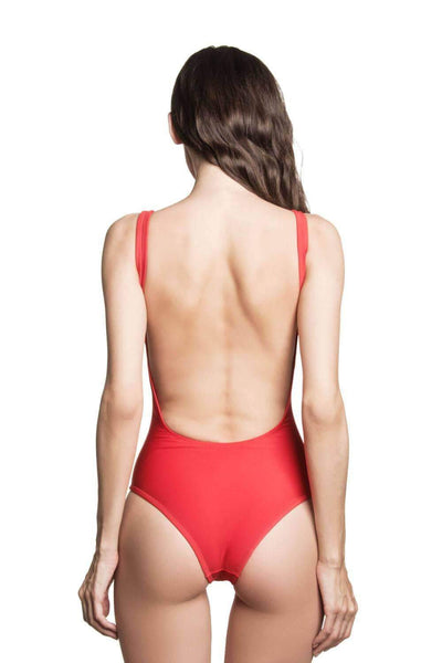 Malibu Hot Red - One Piece swimsuit by loveJilty. Shop on yesUndress