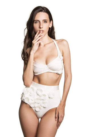 Audrey Ivory underwired top - Bikini top by Keosme. Shop on yesUndress