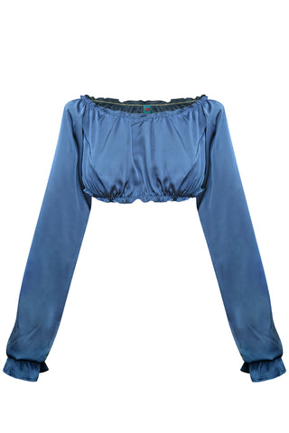 Candy Blue long-sleeve crop top - Top by WOW! Panties. Shop on yesUndress