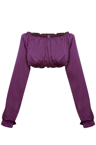 Candy Violet long-sleeve crop top - Top by WOW! Panties. Shop on yesUndress