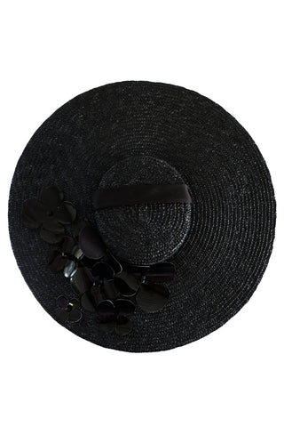 Ariadne black straw hat - Hat by Keosme. Shop on yesUndress