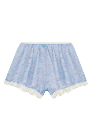 Bloomy Blue high waisted shorts