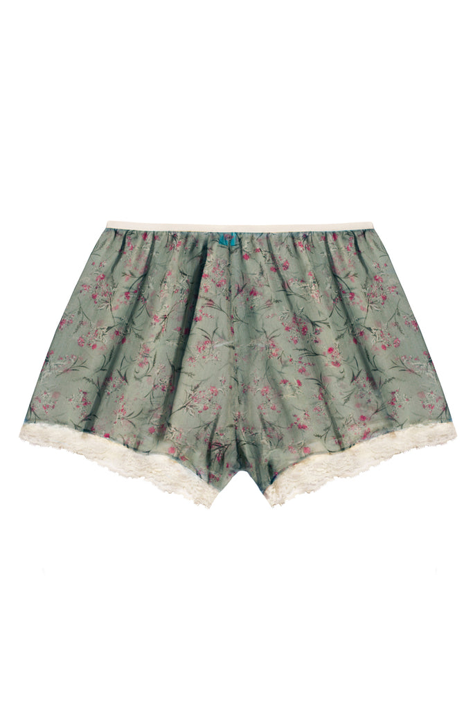 Bloomy Green high waisted shorts - Shorts by WOW! Panties. Shop on yesUndress