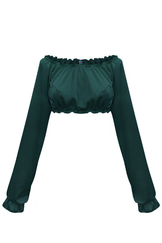 Candy Emerald long-sleeve crop top - Top by WOW! Panties. Shop on yesUndress