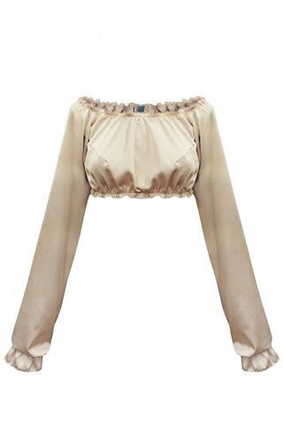 Candy Gold long-sleeve crop top - Top by WOW! Panties. Shop on yesUndress