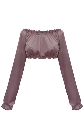 Candy Lilas long-sleeve crop top - Top by WOW! Panties. Shop on yesUndress