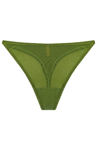 Constance Greenery high-waisted thongs