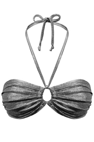 Cressida Silver bandeau - Bikini top by yesUndress. Shop on yesUndress