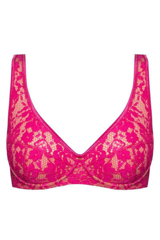 Monica light fuchsia bra