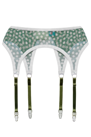 Green Dream garter belt