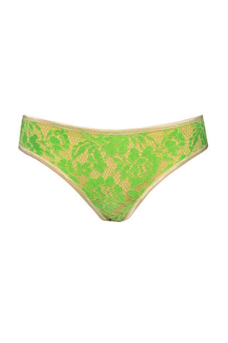 Monica light greenery slip panties