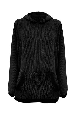 Velveteen Black hoodie - Sweater by yesUndress. Shop on yesUndress