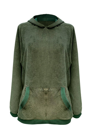 Velveteen Olive hoodie - Sweater by yesUndress. Shop on yesUndress