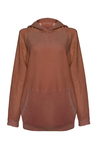 Velveteen Terracotta hoodie - Sweater by yesUndress. Shop on yesUndress