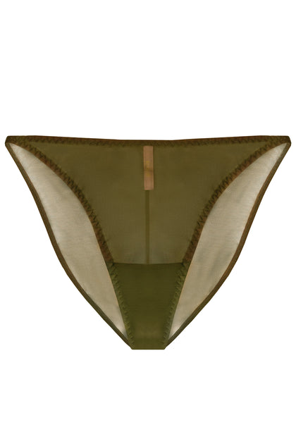 Constance Olive high-waisted panties - Slip panties by More! Keòsme. Shop on yesUndress