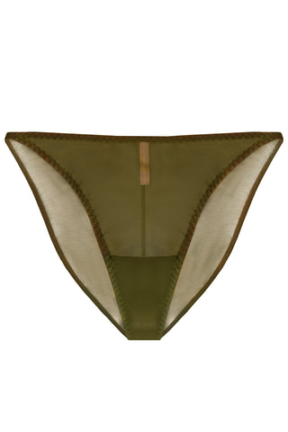 Constance Olive high-waisted panties