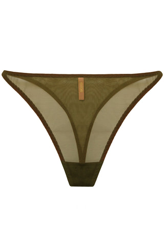 Constance Olive high-waisted thongs - Thongs by More! Keòsme. Shop on yesUndress