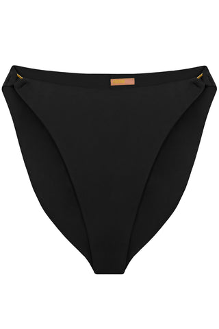 Radiya Black high waisted bikini bottom - Bikini bottom by yesUndress. Shop on yesUndress