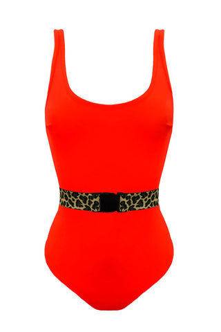 Malibu Red Leo swimsuit - yesUndress