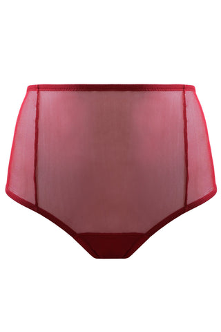Marshmallow maroon high waisted panties