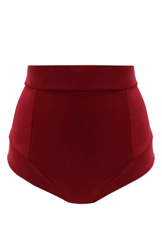 Mediana Maroon high waisted bikini bottom - High waisted bikini by Keosme. Shop on yesUndress