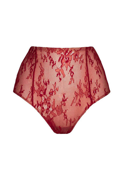 Miraldea bordeau high waisted panties
