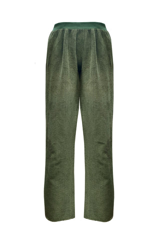 Velveteen Olive pants - Pants by yesUndress. Shop on yesUndress