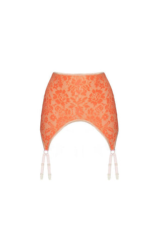 Monica light tangerine garter belt