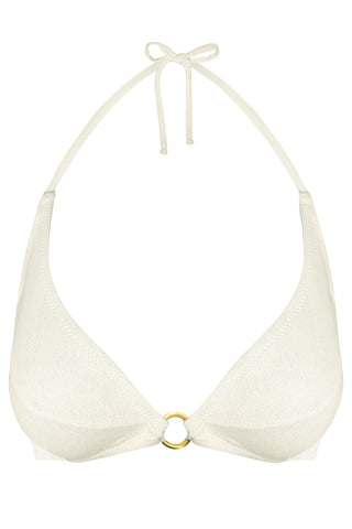 Titaniya Gold Ivory bikini top - Bikini top by yesUndress. Shop on yesUndress