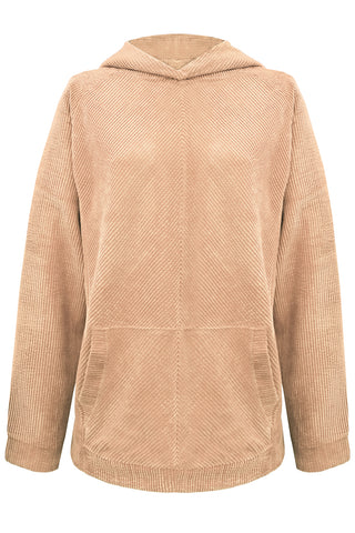 Velveteen Beige hoodie - Sweater by yesUndress. Shop on yesUndress