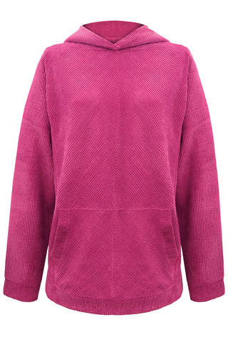 Velveteen Fuchsia hoodie - Sweater by yesUndress. Shop on yesUndress
