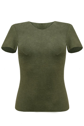 Wendy Olive T-shirt - T-shirt by yesUndress. Shop on yesUndress