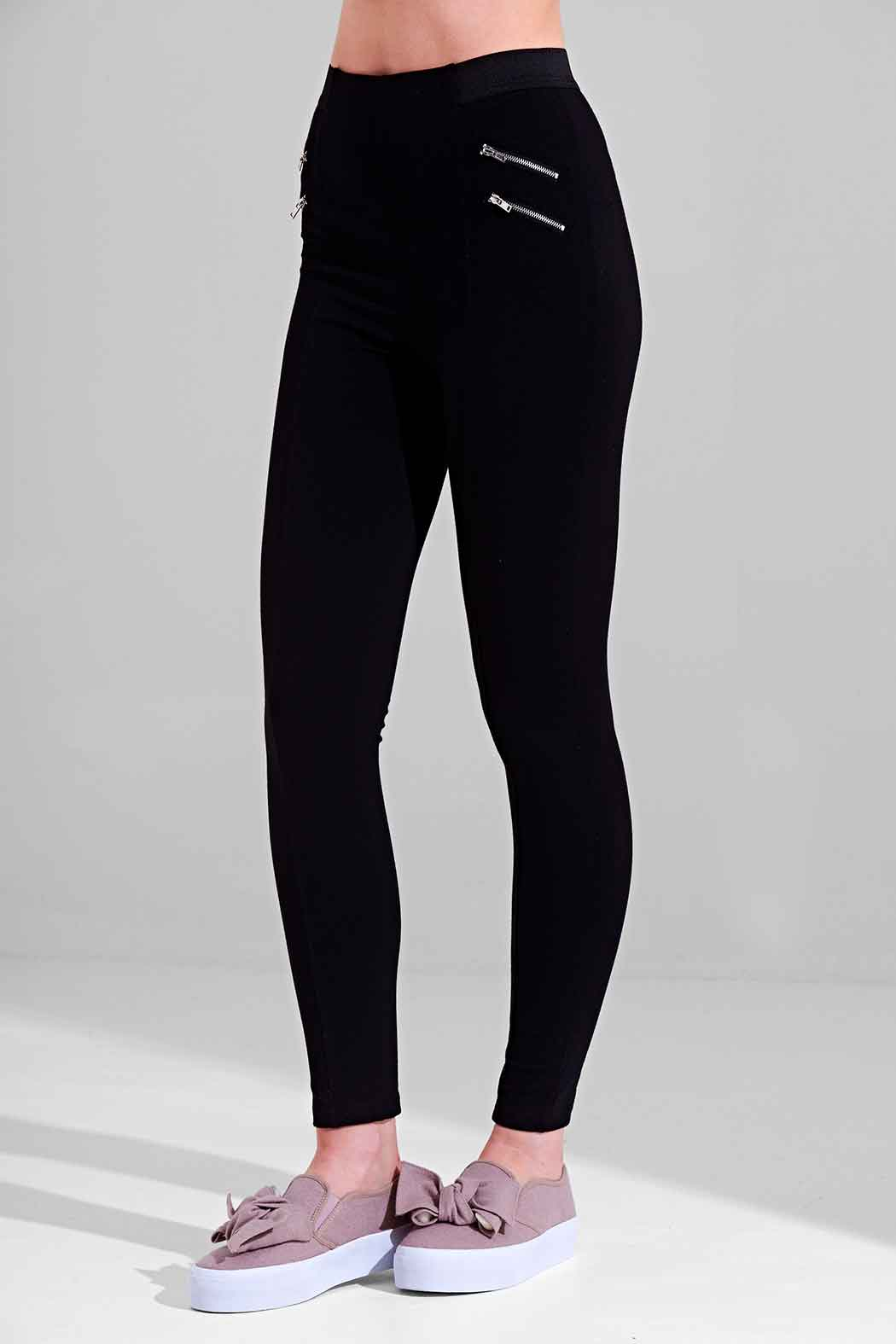 Athena Black Zipped Legging