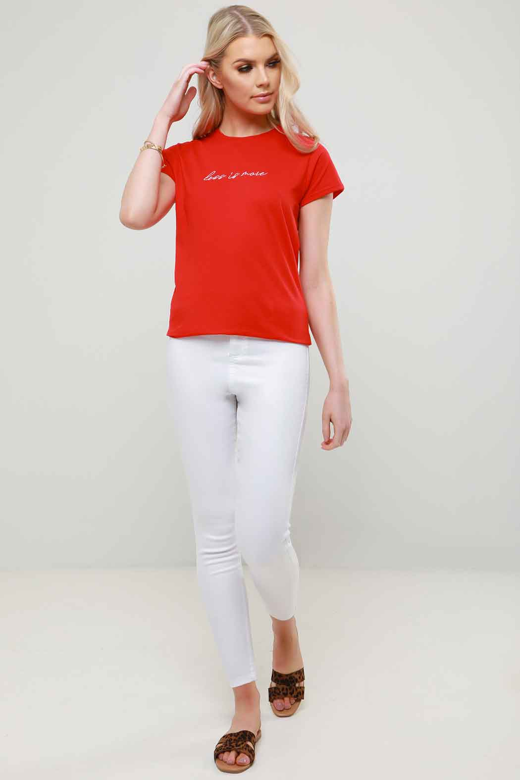 Ethie Red Embroidered Logo T-Shirt