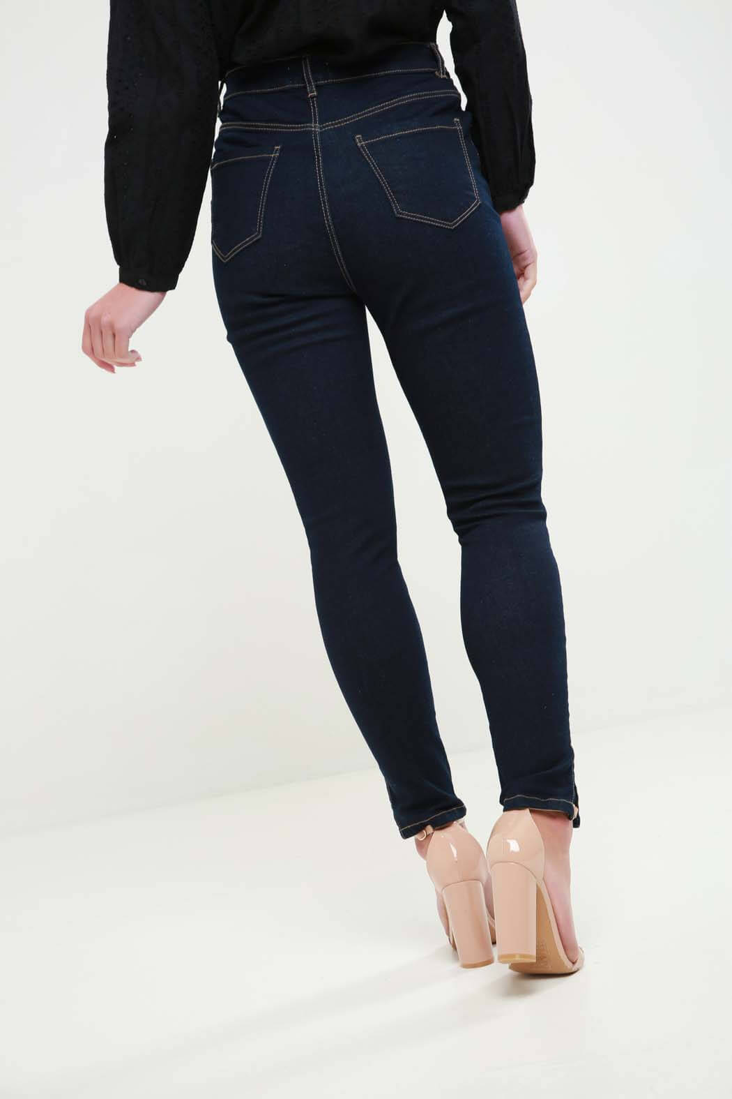 Hero Indigo Blue High Waist Skinny Jean
