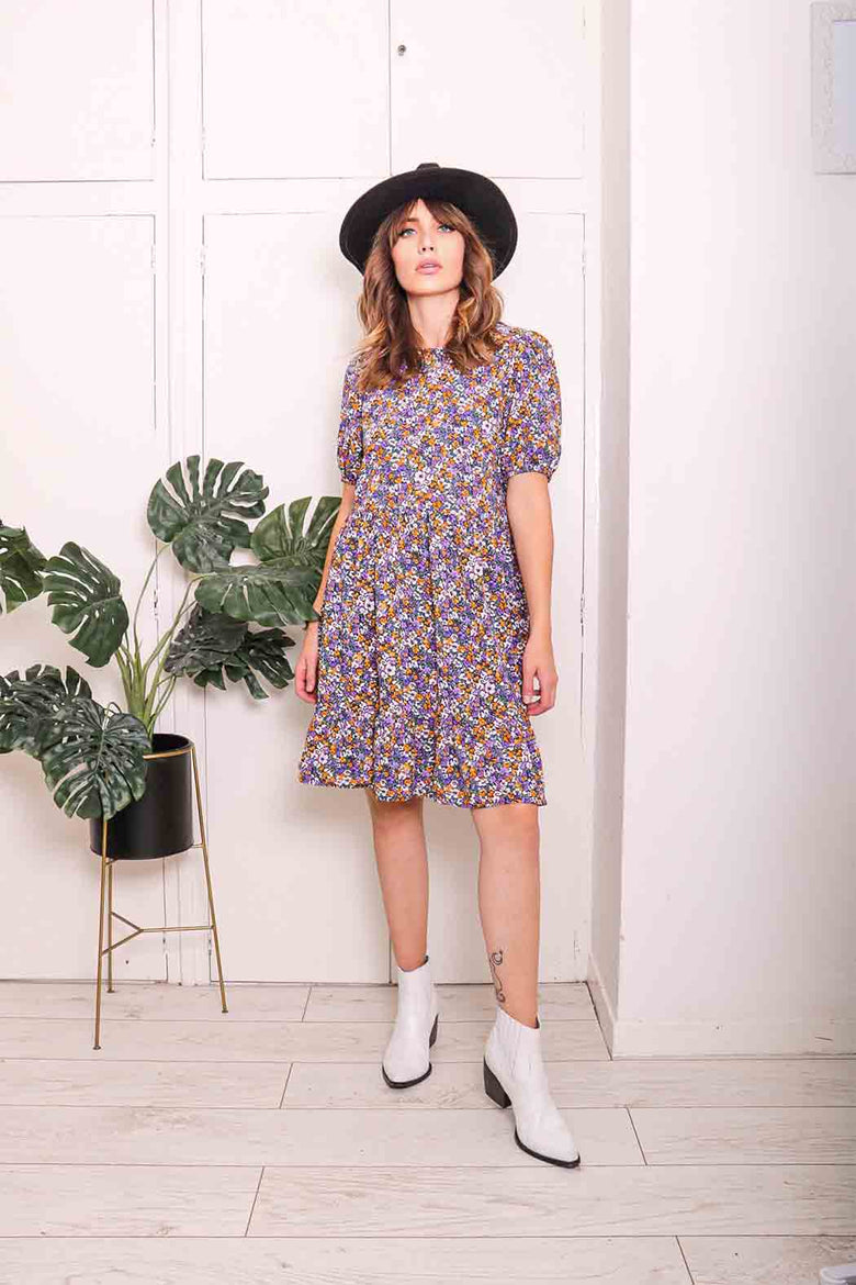 Lennox Puff Sleeve Mini Smock