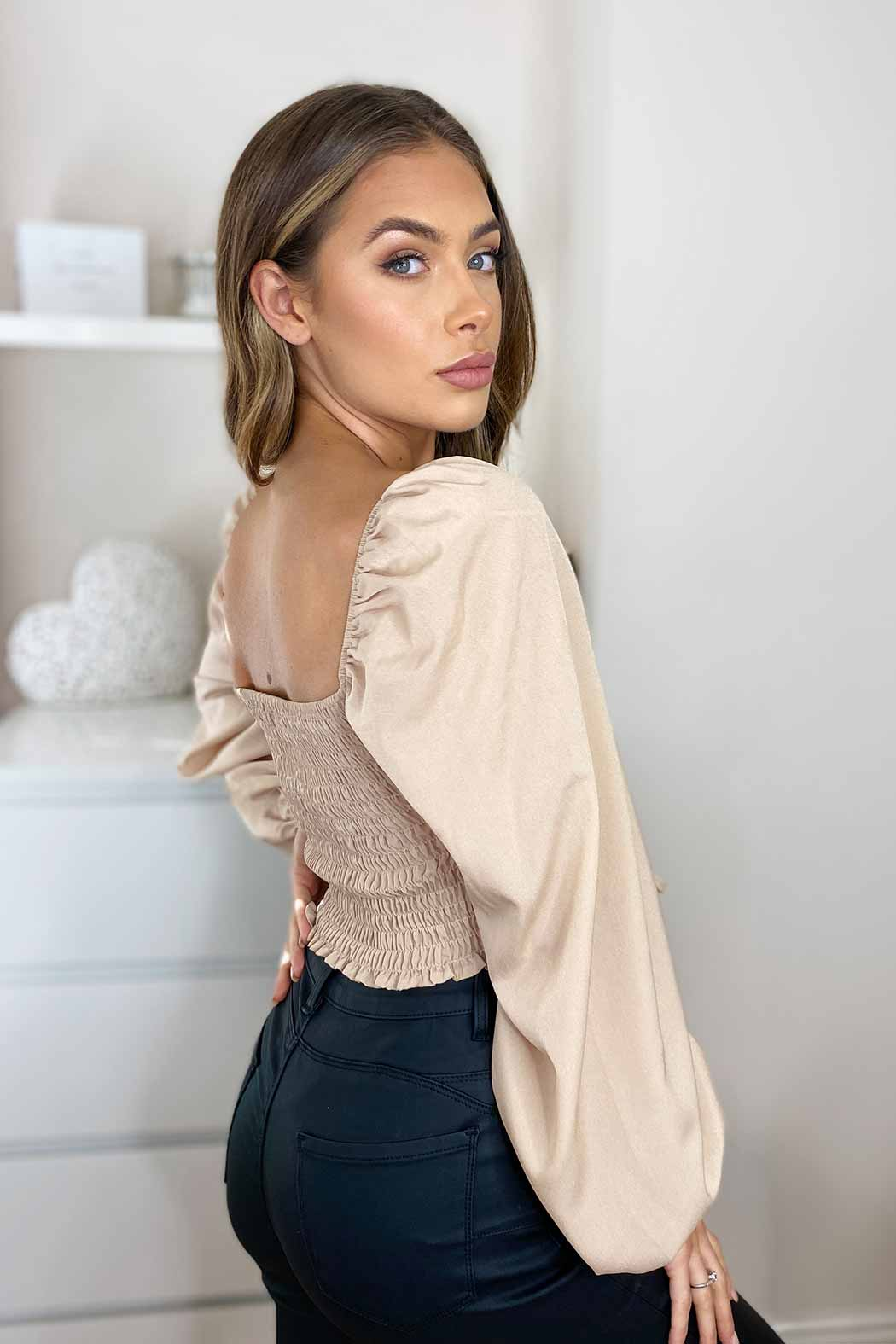 May Stone Ruched Top