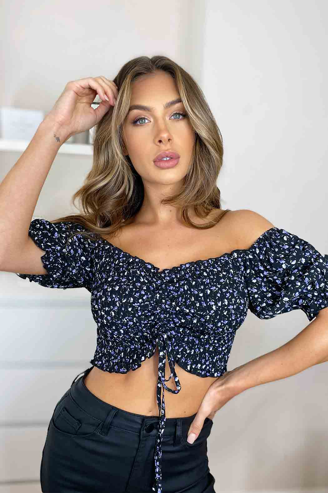 Noelle Sheered Ruched Top