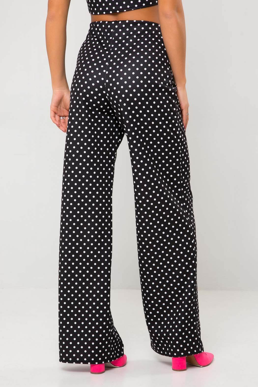 Spot Wide Leg Trousers