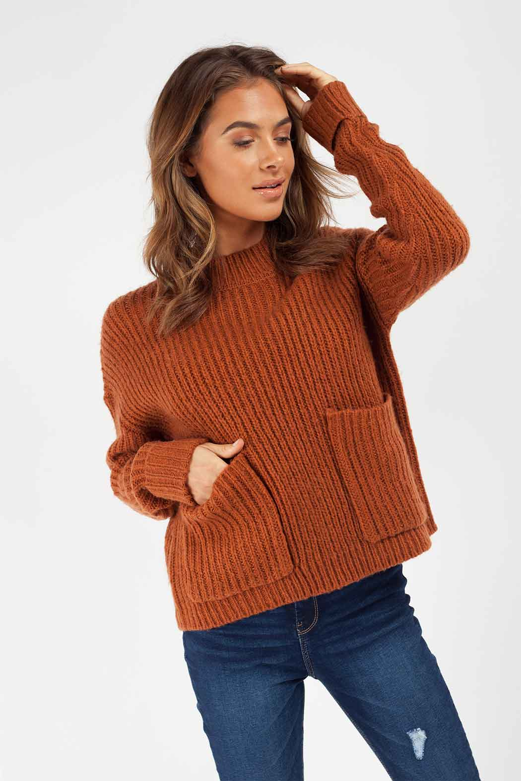 Rust Utility Stand Neck Jumper