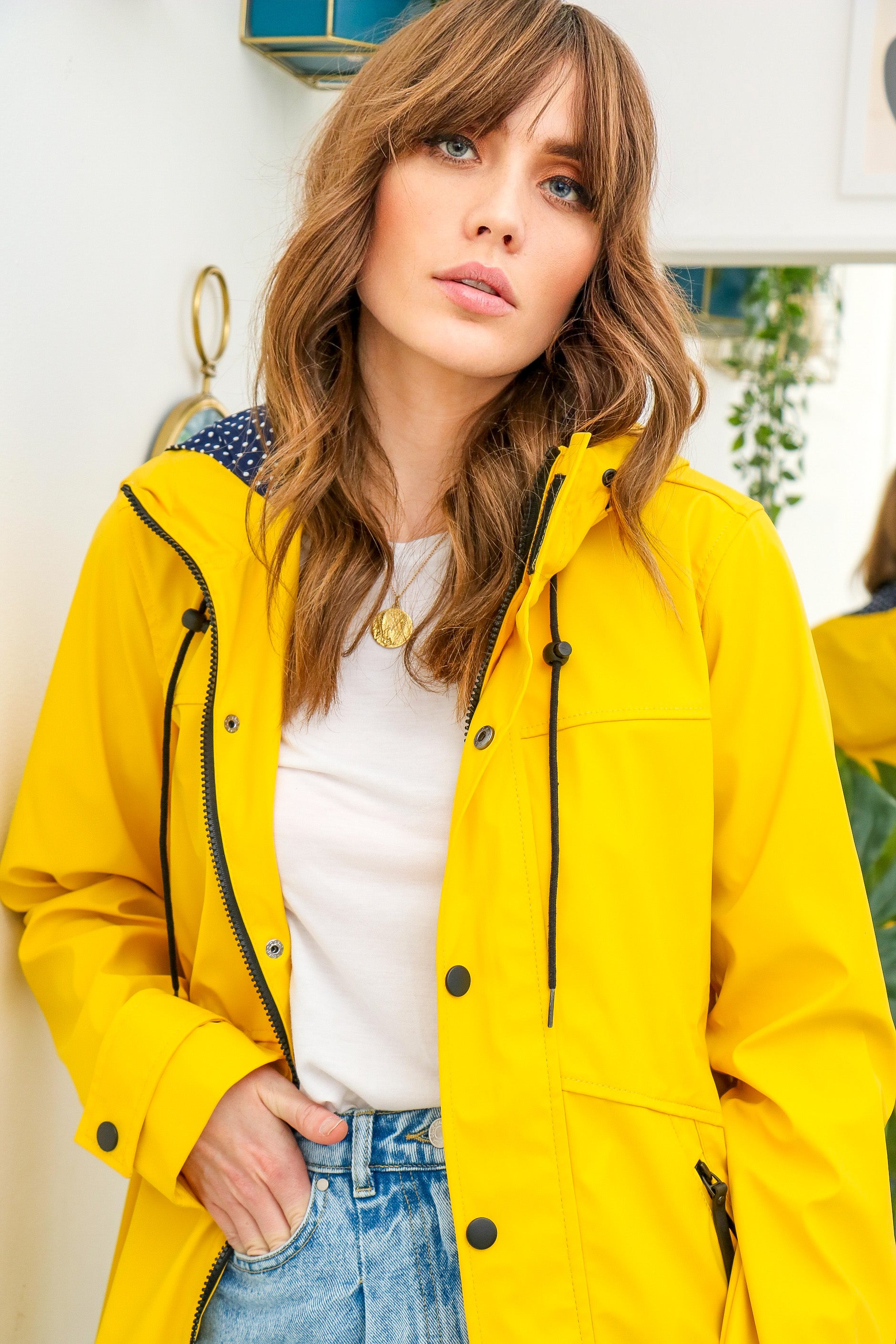 Lucie Yellow Rain Mac