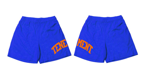 Mesh Shorts Blue/Orange