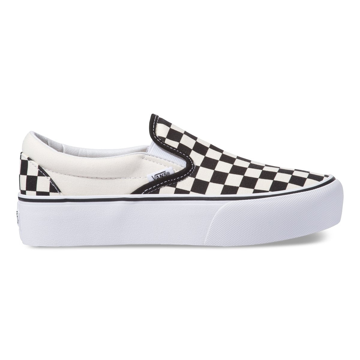 Zapatillas Classic Slip On Platform - Black & White Checker - Vans