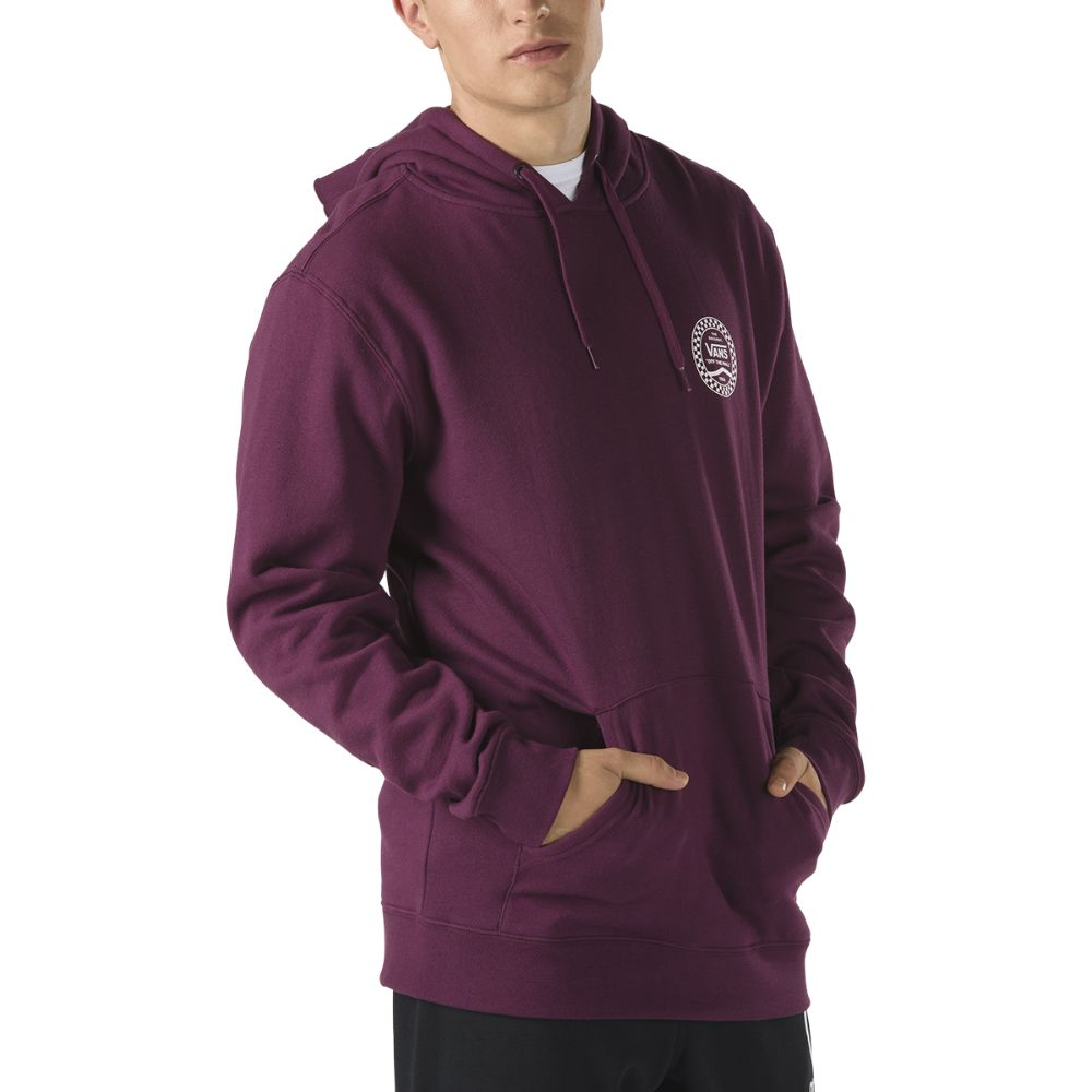 Sudadera con capucha Vans Checkered Side Stripe Prune - Vans