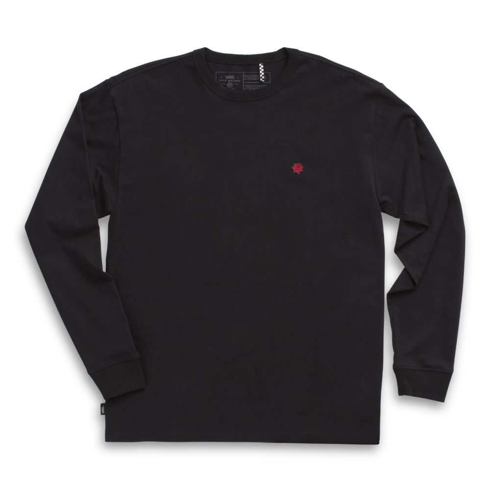 Polo manga larga Kyle Walker Off The Wall Black