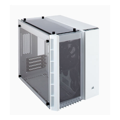 Corsair Crystal Series 280X Tempered Glass Micro-ATX Case, White