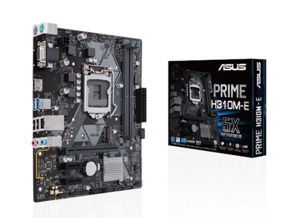 ASUS PRIME H310M-E R2.0 Intel LGA-1151 mATX motherboard, DDR4 2666MHz, SATA 6Gbps and USB 3.1 Gen 1 HDMI/D-Sub, M.2 Support, TPM Header