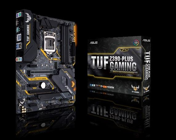 ASUS TUF Z390-PLUS GAMING ATX MB Intel LGA1151 OptiMem II, Aura Sync RGB, DDR4 4266+, M2 For 8th/9th Pentium/Celeron CPUs