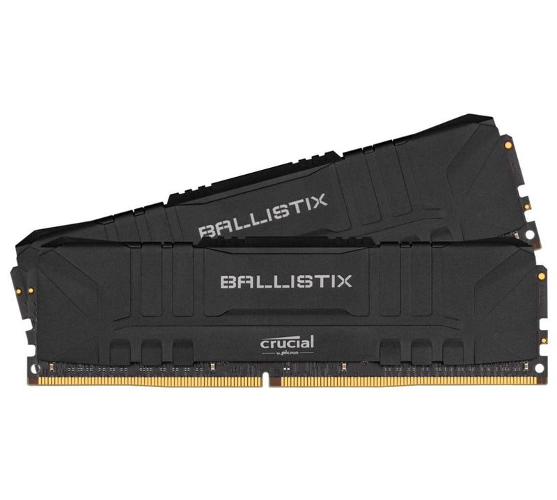Crucial Ballistix 64GB (2x32GB) DDR4 UDIMM 3200MHz CL16 Black Aluminum Heat Spreader Intel XMP2.0 AMD Ryzen Desktop PC Gaming Memory